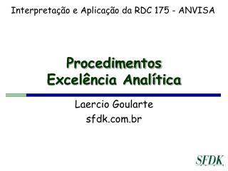 Procedimentos Excelência Analítica