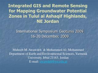 International Symposium Geotunis 2009 16-20 December, 2009