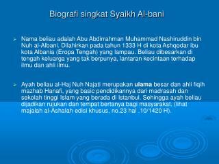 Biografi singkat Syaikh Al-bani