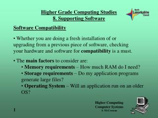 Software Compatibility
