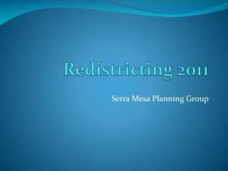 Redistricting 2011