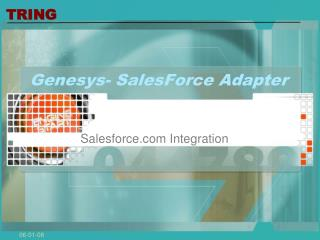 Genesys- SalesForce Adapter