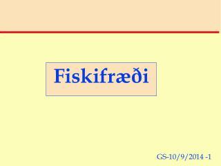 Fiskifræði