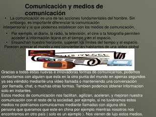 Comunicación y medios de comunicación