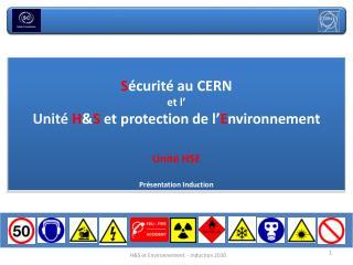 Les risques au CERN et dans les alentours