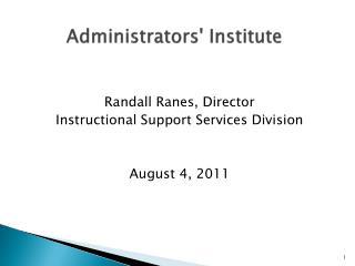Administrators' Institute