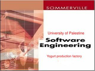 University of Palestine Yogurt production factory