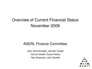 ASERL Finance Committee