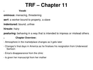 TRF – Chapter 11