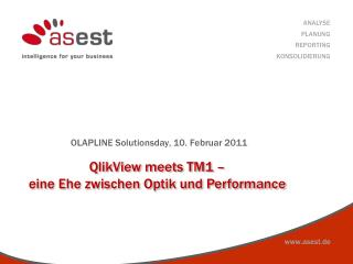 QlikView meets TM1  � eine Ehe zwischen Optik und Performance