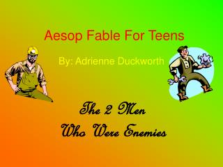 Aesop Fable For Teens