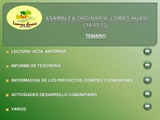 ASAMBLEA  ORDINARIA  LOMAS  HUASI  (14.05.13)
