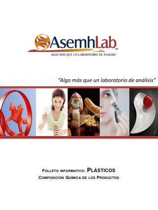 Folleto informativo:  Plásticos