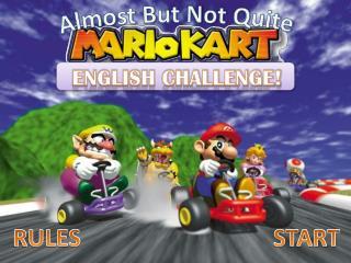ENGLISH CHALLENGE!