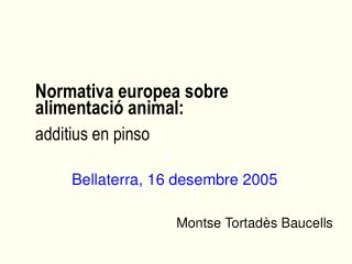 Normativa europea sobre alimentació animal: additius en pinso