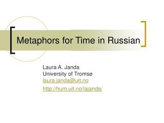 Metaphors for Time in Russian