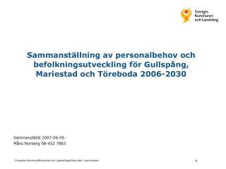 Sammanställd 2007-06-05 Måns Norberg 08-452 7883