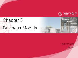Chapter 3 Business Models