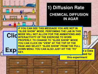 Diffusion Rate CHEMICAL DIFFUSION IN AGAR