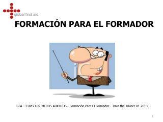 FORMACIÓN PARA EL FORMADOR