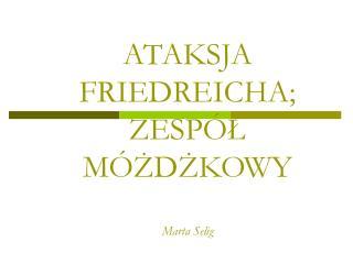 ATAKSJA FRIEDREICHA; ZESP L M ZDZKOWY  Marta Selig