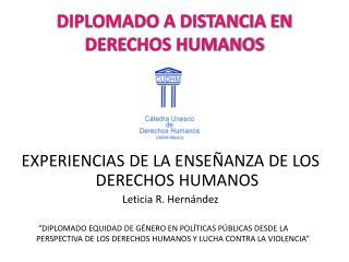 DIPLOMADO A DISTANCIA EN DERECHOS HUMANOS