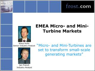 EMEA Micro- and Mini-Turbine Markets