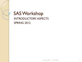 SAS Workshop