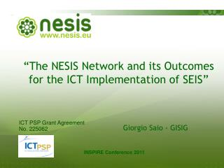 """The NESIS Network and its Outcomes for the ICT Implementation of SEIS"""