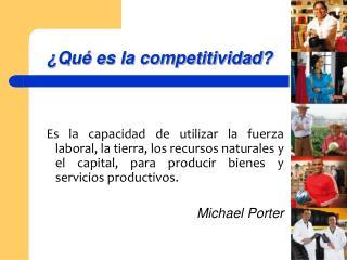 Qu  es la competitividad