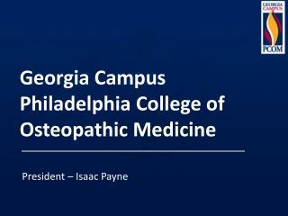 Georgia Campus Philadelphia College of Osteopathic Medicine