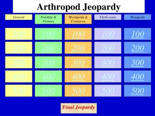 Arthropod Jeopardy