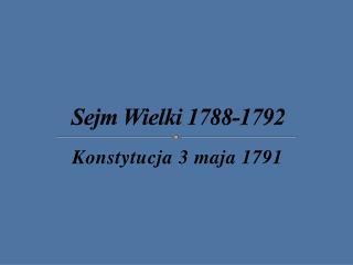 Sejm Wielki 1788-1792