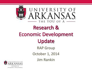 Research &  Economic Development  Update