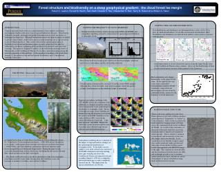 Forest structure and biodiversity on a steep geophysical gradient:  the cloud forest lee margin