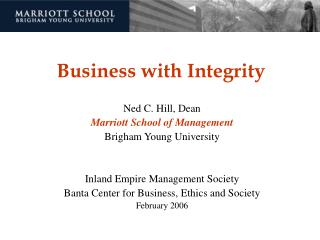 Business with Integrity