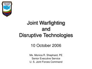 Joint Warfighting and Disruptive Technologies