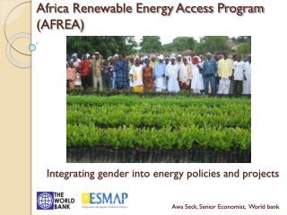 Africa Renewable Energy Access Program (AFREA)