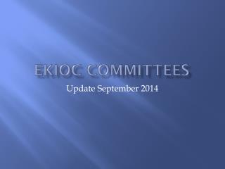 EKIOC Committees