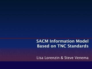 SACM Information Model Based on TNC Standards