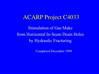 ACARP Project C4033