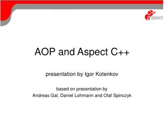 AOP and Aspect C++