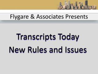 Flygare & Associates Presents