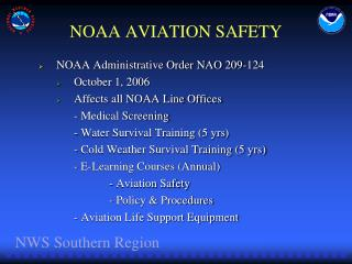 NOAA AVIATION SAFETY