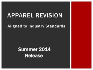 Apparel Revision