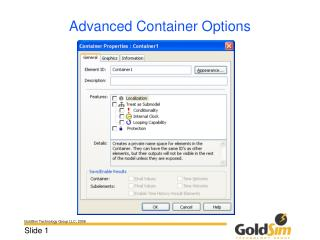 Advanced Container Options