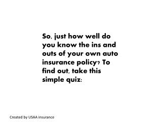Created by USAA insurance