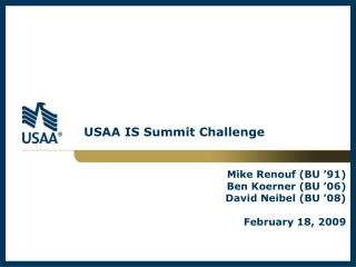 USAA IS Summit Challenge