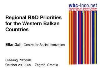 Regional R&D Priorities for the Western Balkan Countries