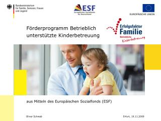 F rderprogramm Betrieblich  unterst tzte Kinderbetreuung